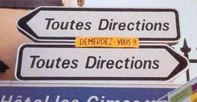 Crazy Road Signs in France