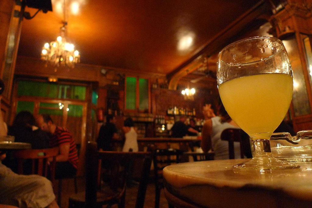 Absinthe at Bar Marsella in Barcelona