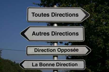 Autres Directions Road Signs in France