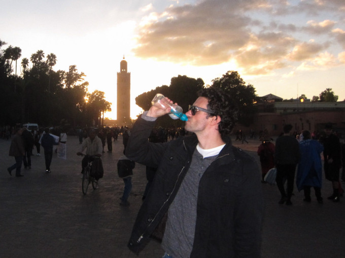 Bobble Water Bottle Around Marrakech