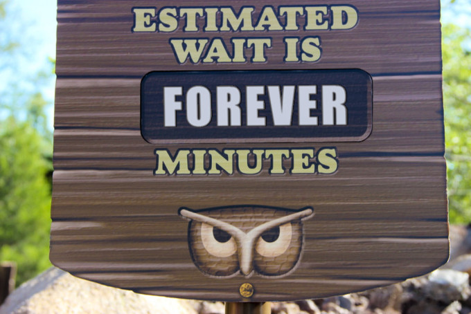 Disney Line Wait Time Sign