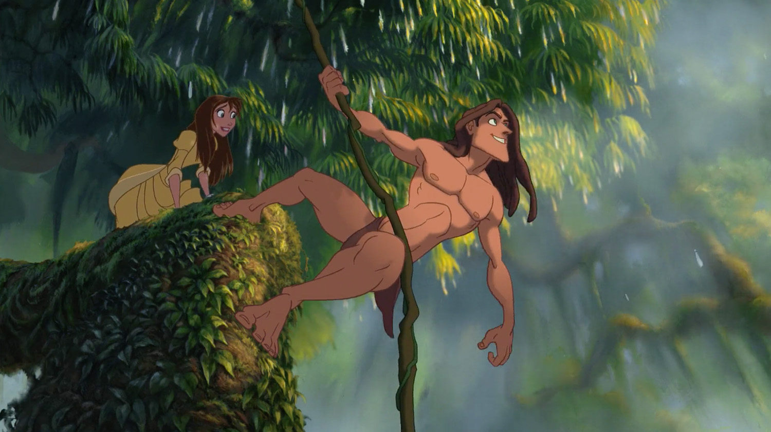 Disney's Tarzan Hanging with Jane