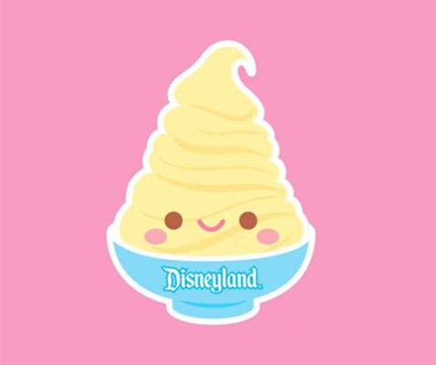Disneyland Dole Whip Cartoon Mascot