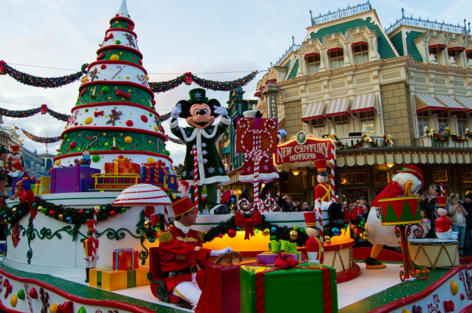 Mickey in Disney's Christmas Celebration Parade