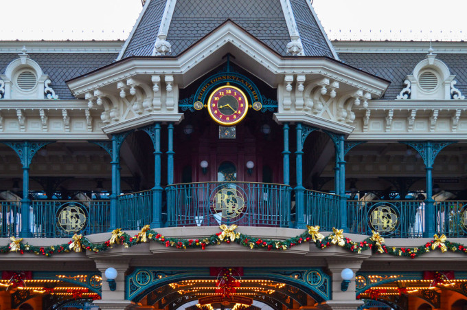 Disneyland Paris Train Station Clock