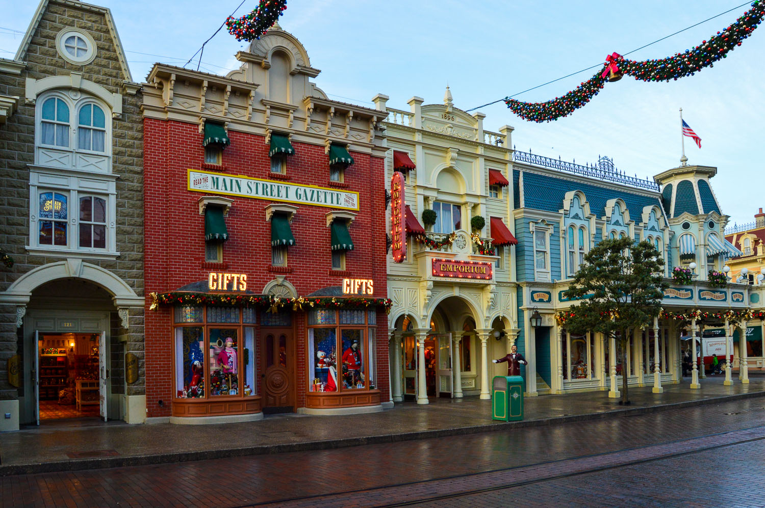Main Street U.S.A Christmas Buildings