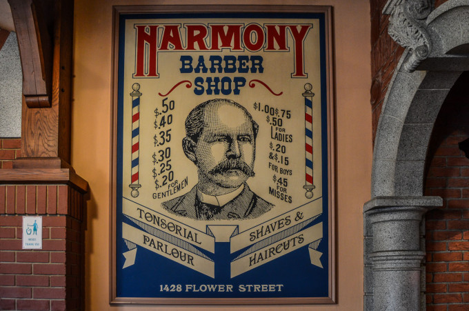 Disneyland Paris Discovery Arcade Barber Shop Sign