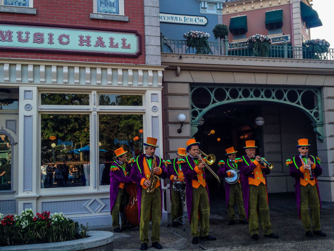 Disneyland Halloswing Orchestra Playing Halloween Music