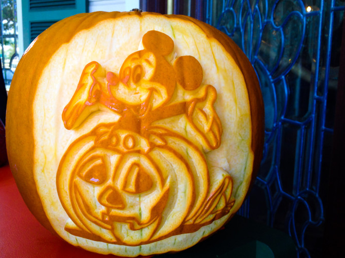 Mickey Mouse Carved Pumpkin