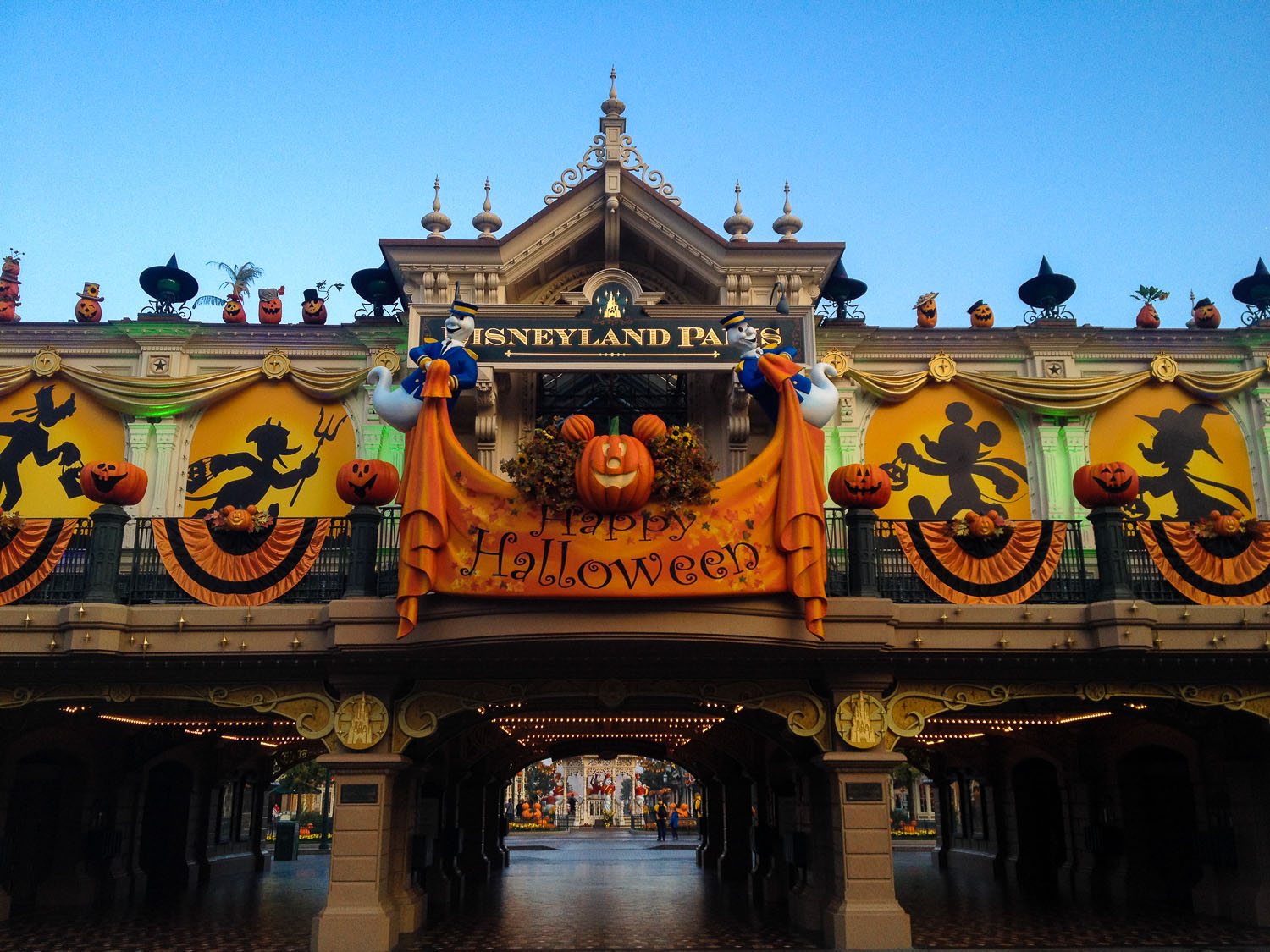halloween main street station sign front