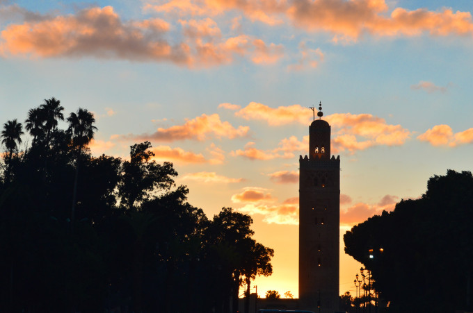 Marrakech Koutoubia Mosque Sunset