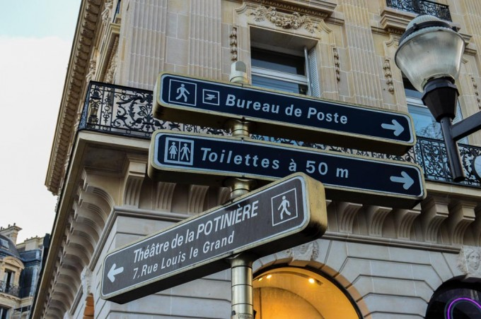 Paris Bathroom Signs