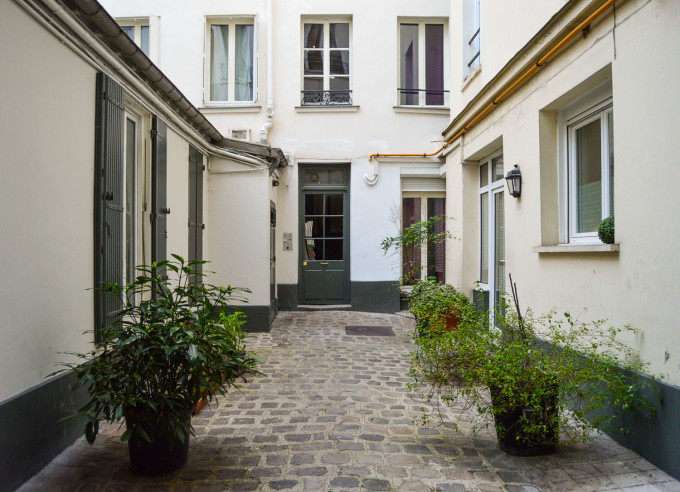 Paris Apartment Courtyard