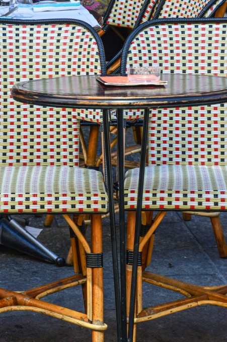 Paris Bistro Table and Chars at Rue Cler Cafe