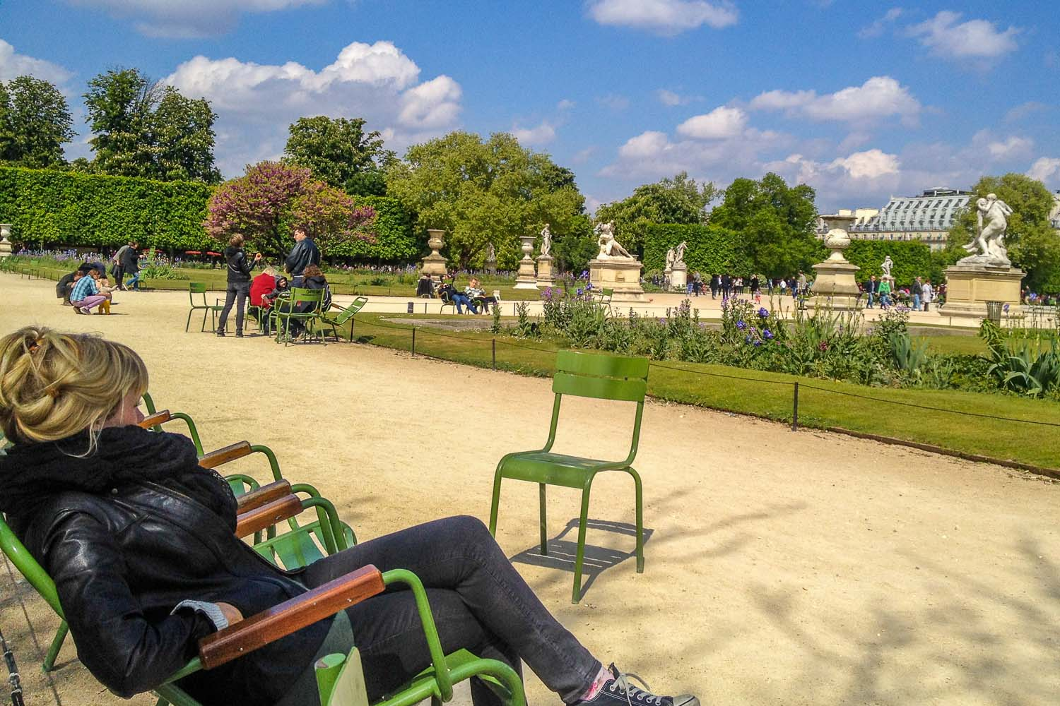 Flaneur Sitting in Tuileries