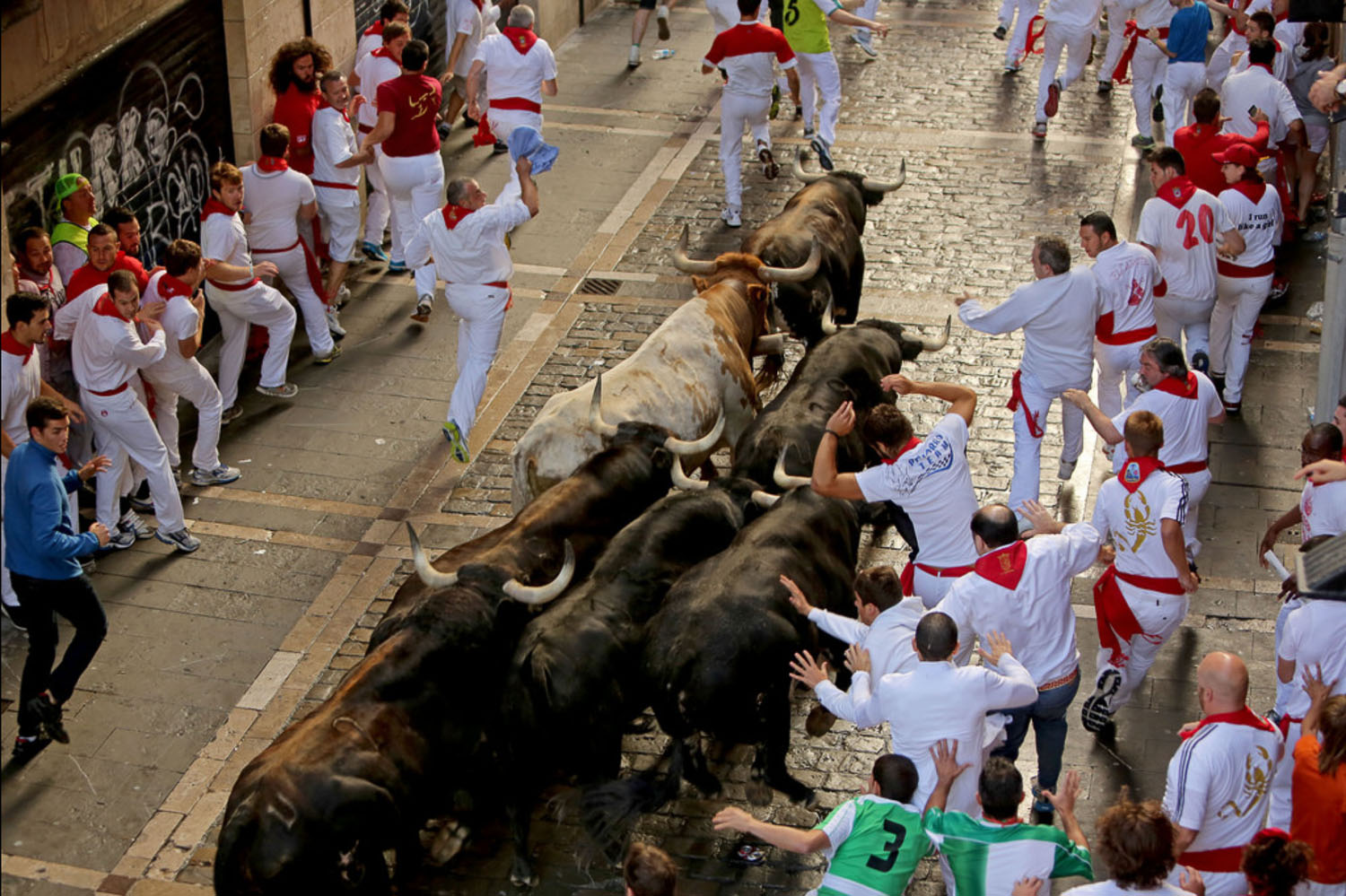 Running with the Bulls Pamplona Spain
